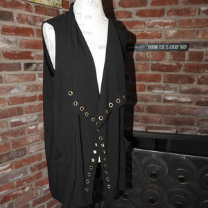 Belldini Black Grommett Vest XL